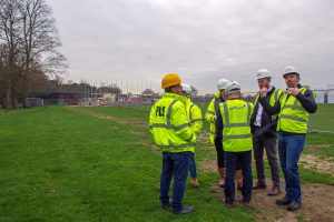 Malcolm Lawrence with TCC Matt Rees, GPF Lewis and Reed Watts on site.