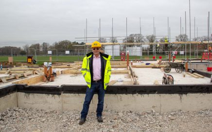 Malcolm Lawrence on a site visit.