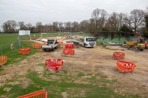 The site of the new Pavilion, next to the existing nets.